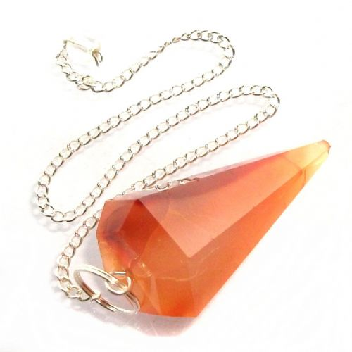 Carnelian Dowsing Pendulum Point